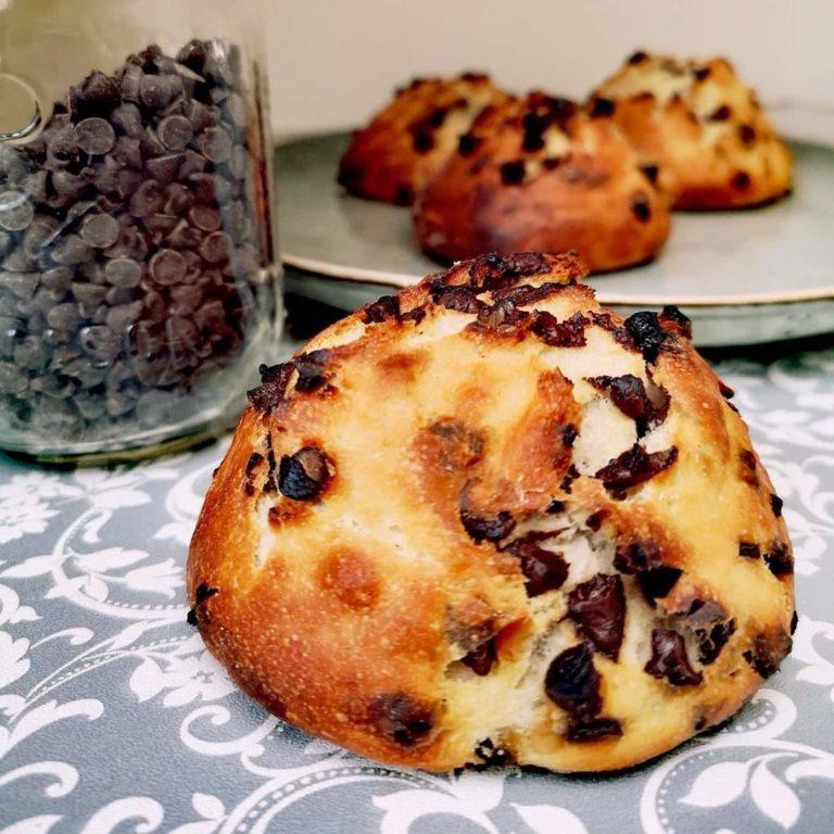 Petits pains aux pépites chocolat