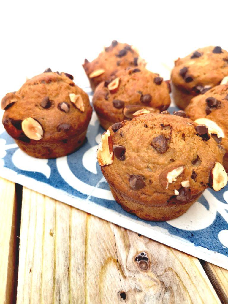 muffins vegan banane chocolat