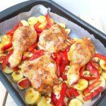 poulet et pommes de terre au four